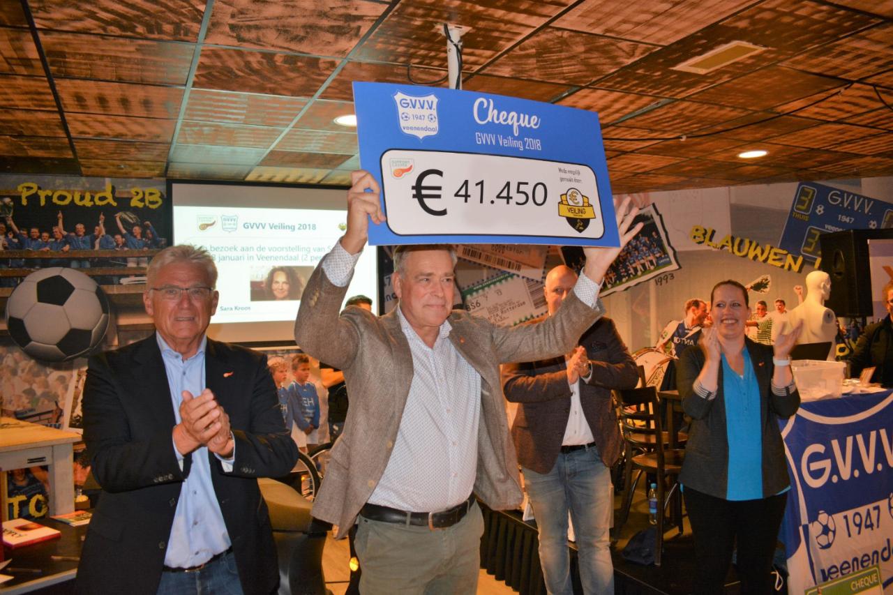 GVVV Veiling Levert €41.450,- Op